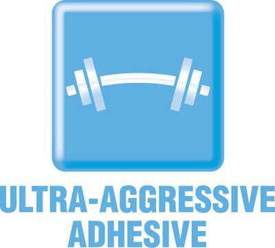 ultra-aggressive label adhesive